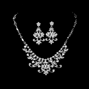 Elaborate Swarovski Crystal Bridal Jewelry Set NE 2316