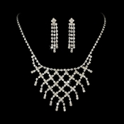 * Rhinestone Necklace Earring Jewelry Set NE 10570
