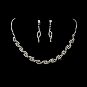 Gorgeous Crystal Swirl Jewelry Set NE 354