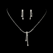 Sparkling Silver & Crystal Jewelry Set NE 314