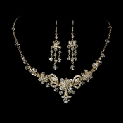 Necklace Earring Set NE 7821 Gold Clear