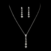* Necklace Earring Set 71789 Silver Clear