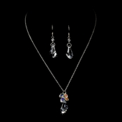 Necklace Earring Set 8126 Silver Clear