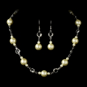 * Necklace Earring Set 11800 Silver Ivory