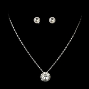 Necklace Earring Set 70250 Silver Clear