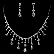Glamourous Crystal Wedding Jewelry Set NE 3628