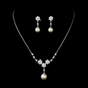 CZ & Pearl Bridal Jewelry Set NE-3631