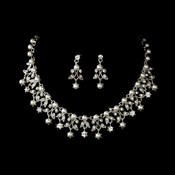 Necklace Earring Set NE 999 Silver