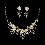 Necklace Earring Set NE 7305 Gold