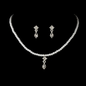 Childrens Necklace Set NE C 8375 Silver White