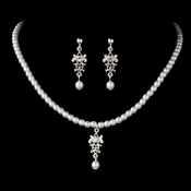 Childrens Necklace Set NE C 8555 Silver White