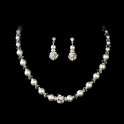 Necklace Earring Set NE 815 ( White or Ivory )