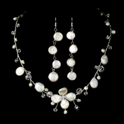 Dainty Keshi Pearl Necklace Earring Bridal Set NE 8137