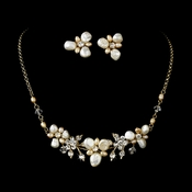 Keshi Pearl Necklace Earring Bridal Set NE 8147