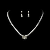 Necklace Earring Set NE 223 Silver
