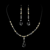 Ivory Pearl Necklace and Earring Set 8354
