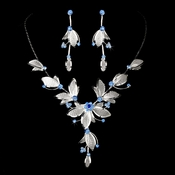 Necklace Earring Set NE 8280 Light Blue