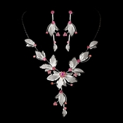 Necklace Earring Set NE 8280 Pink