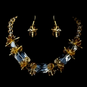 * Topaz Necklace Earring Set 8548