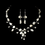 * Keshi Bridal Pearl Jewelry Set NE 8261