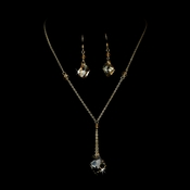 Necklace Earring Set 8124 Gold Light Colorado