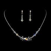 Silver AB Swarovski Crystal Bridal Jewelry Set NE 8121