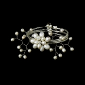Lovely Swarovski Crystal and Fresh Water Pearl Coil Bracelet 8256