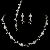 Crystal Floral Vine 3 Piece Bridal Jewelry Set NEB 385