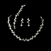 * Necklace Earring Bracelet Set 394 Silver AB