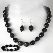 Necklace Earring Bracelet Set 8325 Black