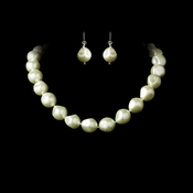 Necklace Earring Bracelet Set 8325 Ivory