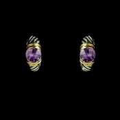 Silver with Amethyst Stone Designer Earrings E 1246