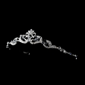 Silver Clear Bridal Headpiece Children 606***Discontinued***