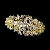 Gold Clear Barrette 8335