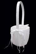 Flower Girl Basket FB 92 (White or Ivory)