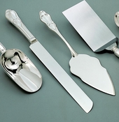 14.25 Inch Silver Plated Wedding Cake Server Set  25592