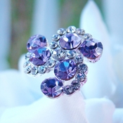 Tanzanite / Light Purple Swirl Crystal Bouquet Jewelry