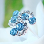 Lt Blue Crystal Swirl Bouquet Jewelry ** 0 Left **