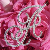 Crystal Rhinestone Bouquet Jewelry Letters A