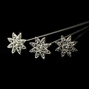 Silver Clear Crystal Bouquet Jewelry BQ 103 (Set of 3 )
