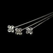 Silver Clear Crystal Bouquet Jewelry BQ 105 ( Set of 3)