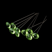 Bouquet Jewelry 270 Peridot Green Crystals (100 Per Box)