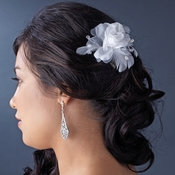 Floral Feather Bridal Hair Accent Comb 8210