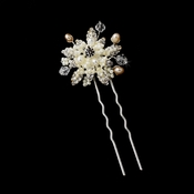 Rum Pink Silver Crystal Hair Pin 3333