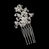 Charming Silver Clear Crystal & Rhinestone Hair Pin 904