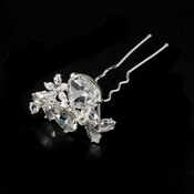 Silver Rhinestone Bridal Hair Pin 95