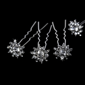 Glitzy Crystal Hair Pins KCS 0068 (Set of 12)