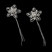 Crystal Flower Hair Pin 14