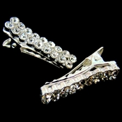 * Lovely Silver Clear Rhinestone Hair Pin 46