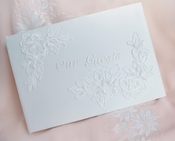 Guest Book 505 in English Ivory-White